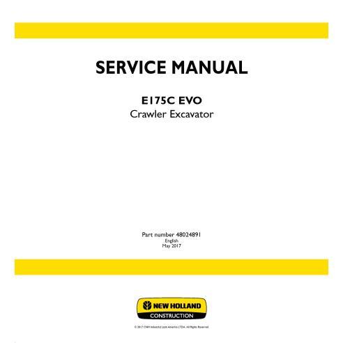 Manual de servicio de la excavadora de cadenas New Holland E175C ECO - Construcción New Holland manuales