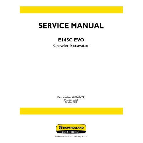 Manual de serviço da escavadeira de esteira New Holland E145C ECO - New Holland Construction manuais