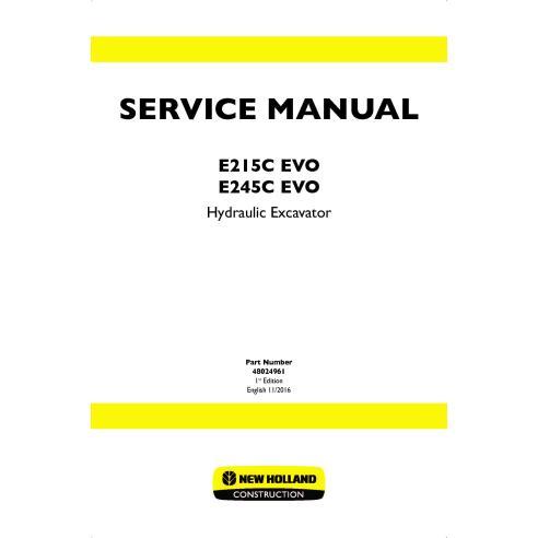 Manuel d'entretien de la pelle sur chenilles New Holland E215C ECO / E245C ECO - Construction New Holland manuels