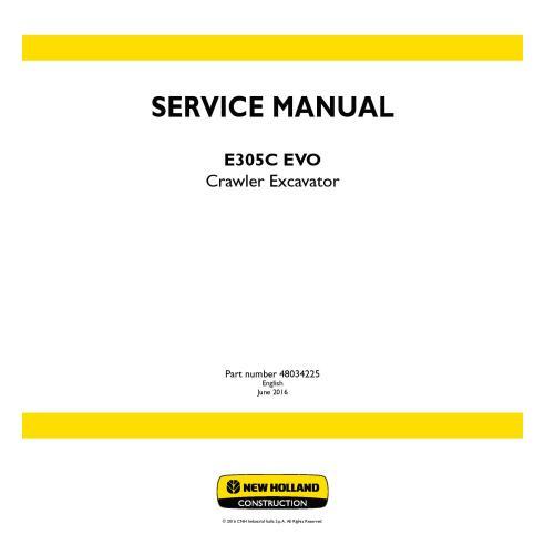New Holland E305C EVO crawler excavator service manual