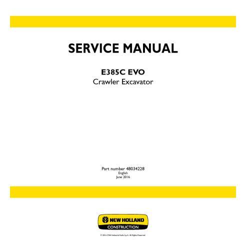 Manual de serviço da escavadeira de esteira New Holland E385C EVO - New Holland Construction manuais