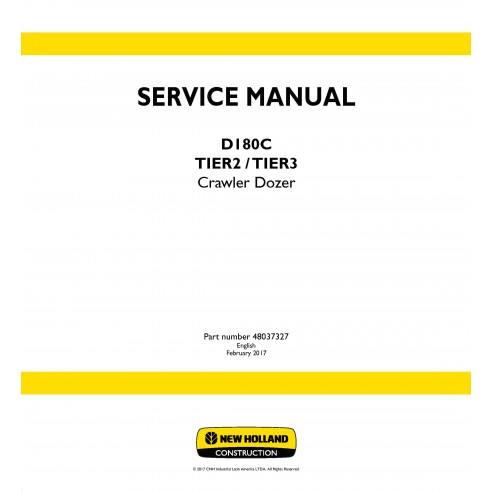 New Holland D180C Tier2 / Tier 3 crawler dozer service manual