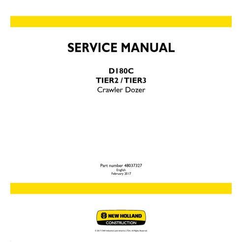 New Holland D180C Tier2 / Tier 3 crawler dozer service manual - New Holland Construction manuals
