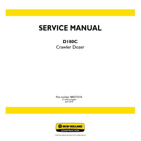 New Holland D180C crawler dozer service manual - New Holland Construction manuals