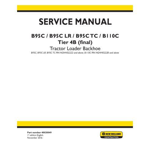 New Holland B95C / B95C LR / B95C TC / B110C Tier 4B backhoe loader service manual - New Holland Construction manuals