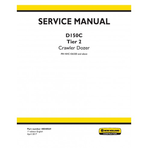 New Holland D150C Tier 2 crawler dozer service manual - New Holland Construction manuals