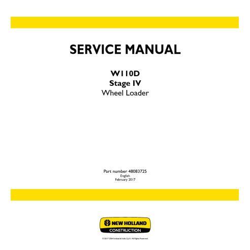 Manual de serviço da carregadeira de rodas New Holland W110D Stage IV - New Holland Construction manuais