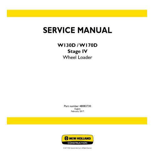 Manuel d'entretien du chargeur sur pneus New Holland W130D / W170D Stage IV - Construction New Holland manuels
