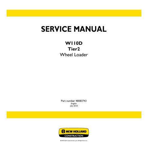 Manual de serviço da carregadeira de rodas New Holland W110D Tier2 - New Holland Construction manuais