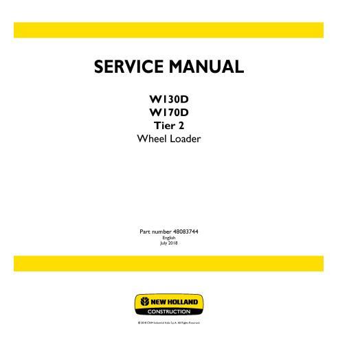 Manual de serviço da carregadeira de rodas New Holland W130D / W170D Tier 2 - New Holland Construction manuais