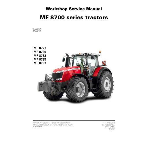 Manual de serviço de oficina do trator Massey Ferguson 8727/8730/8732/8735/8737 - Massey Ferguson manuais