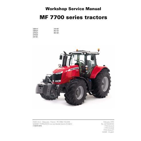 Manual de serviço da oficina do trator Massey Ferguson 7714/7715/7716/7718/7719/7720/7722/7724/7726 - Massey Ferguson manuais