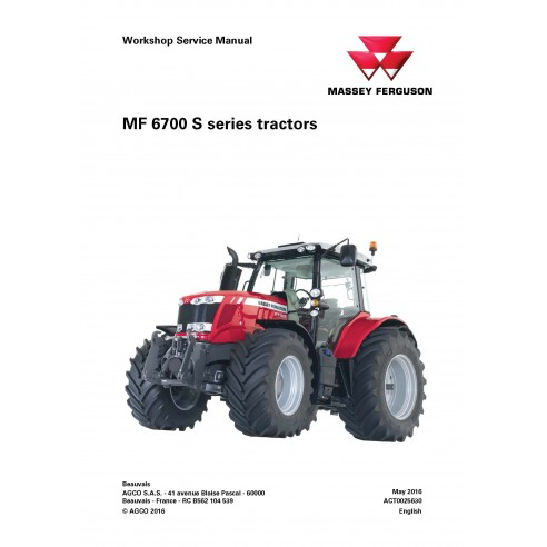 Massey Ferguson 6712S / 6713S / 6714S / 6715S / 6716S / 6718S tractor workshop service manual - Massey Ferguson manuals