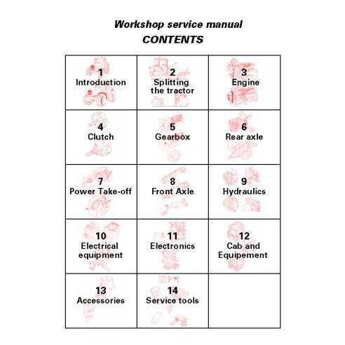 Manual de serviço da oficina do trator Massey Ferguson 6235/6245/6255/6260/6265/6270/6280/6290 - Massey Ferguson manuais