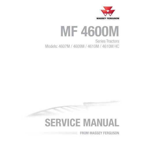 Manual de servicio del tractor Massey Ferguson 4607M / 4609M / 4610M / 4610M HC - Massey Ferguson manuales