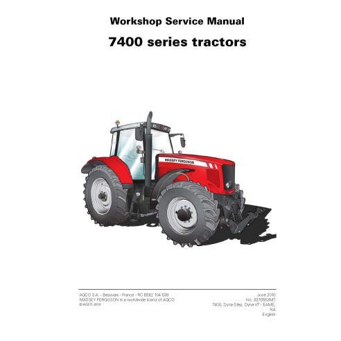 Manuel d'entretien d'atelier de tracteur Massey Ferguson 7465/7475/7480/7485/7490/7495/7497/7499 - Massey Ferguson manuels