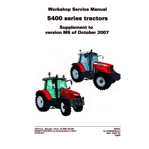 Massey Ferguson 5410 / 5420 / 5425 / 5430 / 5435 / 5440 / 5445 / 5450 / 5460 / 5465 / 5470 / 5475 / 5480 tractor workshop ser...