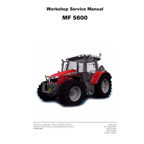 Manuel de service d'atelier de tracteur Massey Ferguson 5608/5609/5610/5611/5612/5613 - Massey Ferguson manuels