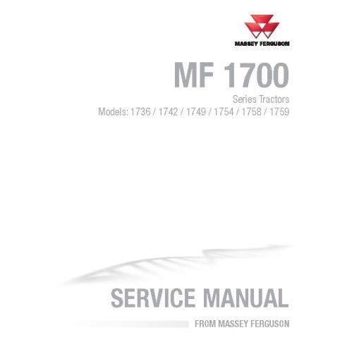 Manual de serviço da oficina do trator Massey Ferguson 1736/1742/1749/1754/1758/1759 - Massey Ferguson manuais