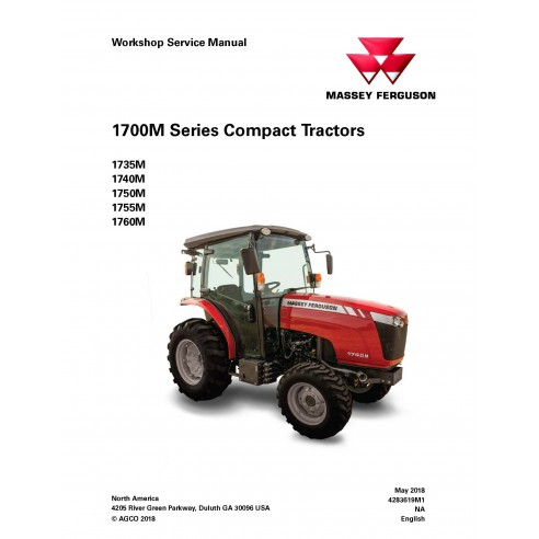 Massey Ferguson 1735M / 1740M / 1750M / 1755M / 1760M tractor workshop service manual