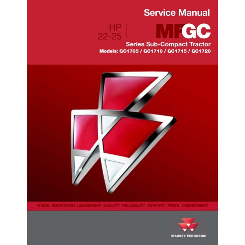 Massey Ferguson GC1705 / GC1710 / GC1715 / GC1720 tractor workshop service manual - Massey Ferguson manuals