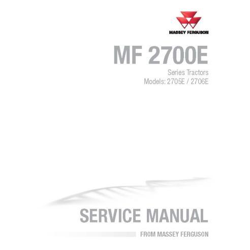 Massey Ferguson 2705E / 2706E tractor workshop service manual