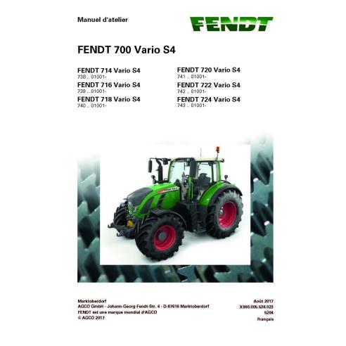 Fendt 700 - 714/716/718/720/722/724 manual de servicio del taller del tractor francés - Fendt manuales