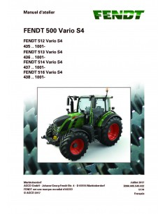 Fendt 500 - 512 / 513 / 514 / 516 tractor workshop service manual French