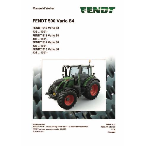 Fendt 500-512/513/514/516 manual de servicio del taller del tractor francés - Fendt manuales