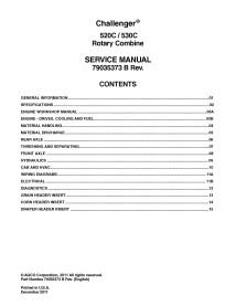 Challenger 520C / 530C combine service manual