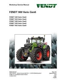Fendt 930 / 933 / 936 / 939 / 942 GEN6 tractor workshop service manual
