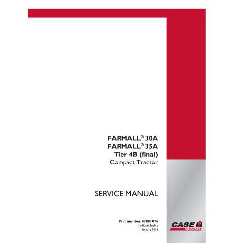 Case IH Farmall 30A, 35A tracteur compact service manuel pdf - Case IH manuels