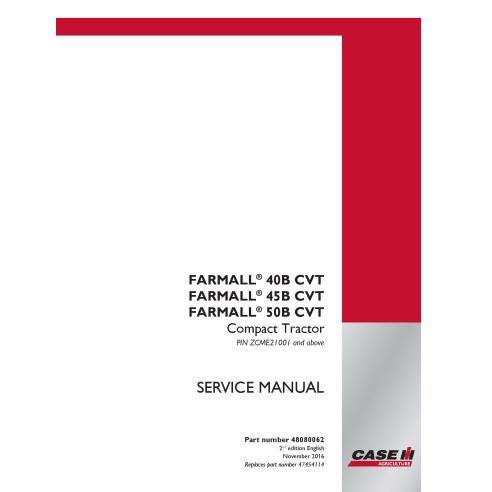 Manual de serviço em pdf de trator compacto Case IH Farmall 40B, 45B, 50B CVT - Case IH manuais