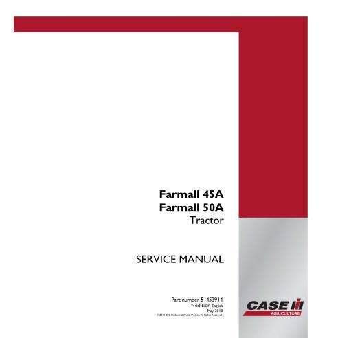 Manuel d'entretien du tracteur compact Case IH Farmall 45A, 50A PDF - Case IH manuels