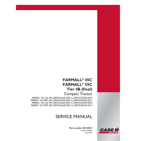 Manuel d'entretien du tracteur compact Case IH Farmall 45C, 55C Tier 4B PDF - Case IH manuels