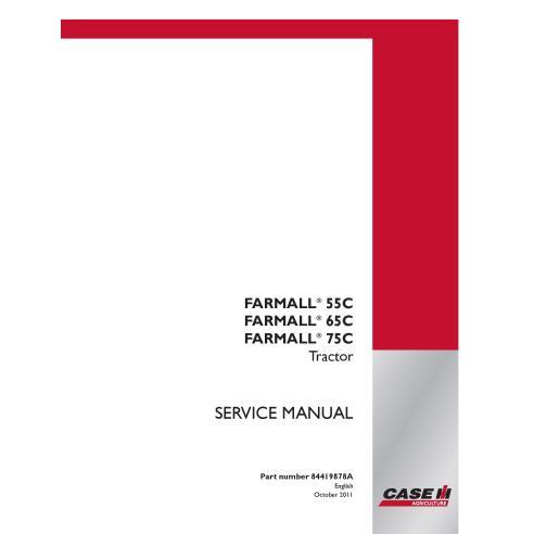 Manuel d'entretien du tracteur Case IH Farmall 55C, 65C, 75C PDF - Case IH manuels