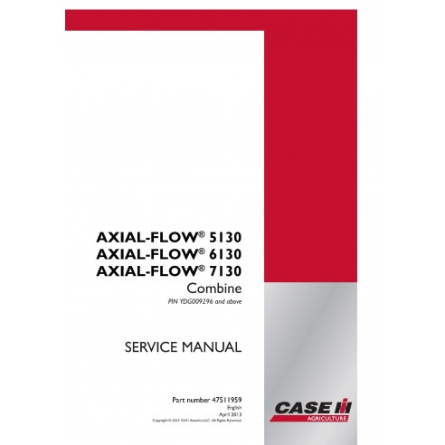 Case IH Axial-Flow 5130, 6130, 7130 combine pdf service manual - Case IH manuals