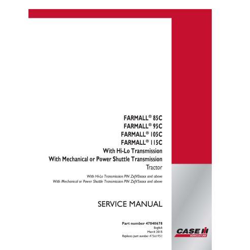 Case IH Farmall 85C, 95C, 105C, 110C tractor pdf service manual - Case IH manuals