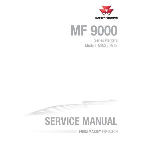 Massey Ferguson 9202, 9222 manuel d'entretien PDF du semoir - Massey Ferguson manuels