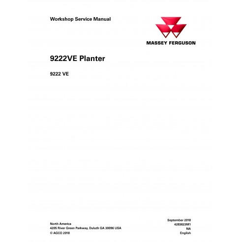 Massey Ferguson 9222VE manuel d'entretien de l'atelier PDF du planteur - Massey Ferguson manuels
