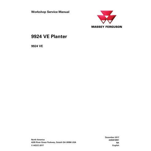 Manual de serviço em pdf da plantadeira Massey Ferguson 9924 VE - Massey Ferguson manuais