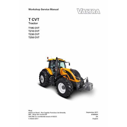 Valtra T195, T210, T230, T250 CVT tracteur manuel de service d'atelier pdf - Valtra manuels