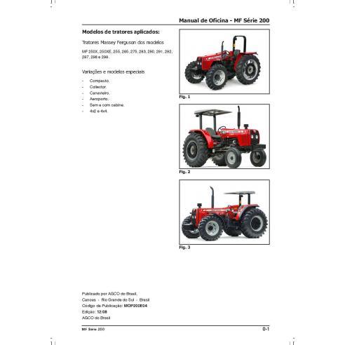 Tracteur Massey Ferguson 250X, 250XE, 255, 265, 275, 283, 290, 291, 292, 297, 298, 299 manuel d'atelier pdf - Massey Ferguson...