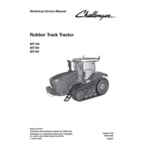 Challenger MT738, MT740, MT743 tractor pdf workshop service manual - Challenger manuales