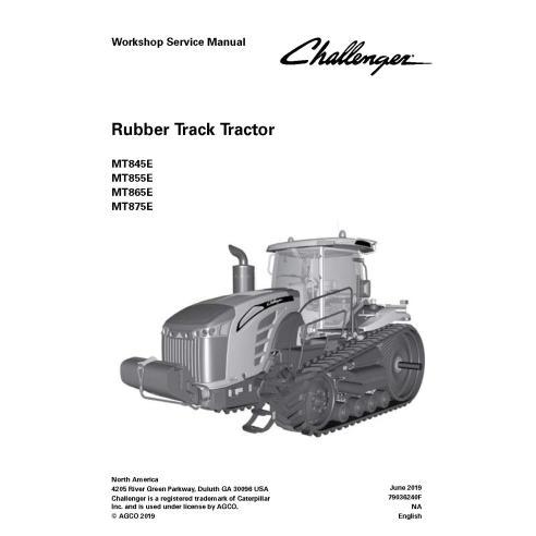 Manual de serviço de oficina em pdf para trator Challenger MT845E, MT855E, MT865E, MT875E - Challenger manuais