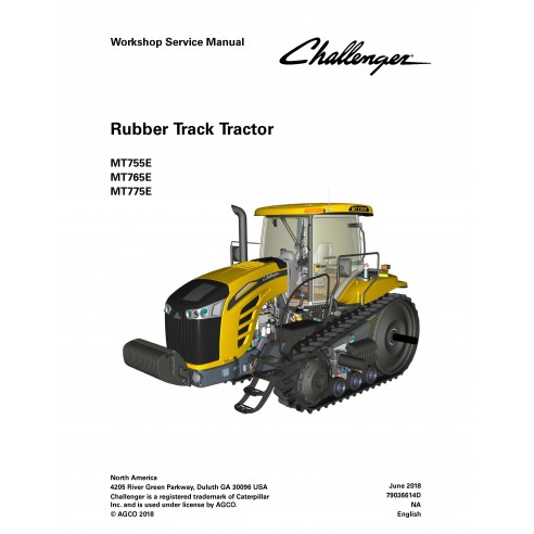Challenger MT755E, MT765E, MT775E tracteur manuel de service d'atelier pdf - Challenger manuels