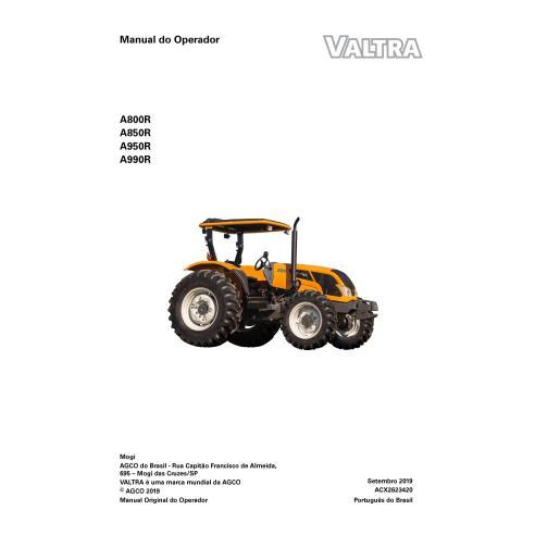 Manuel de l'opérateur PDF du tracteur Valtra A800R, A850R, A950R, A990R PT - Valtra manuels