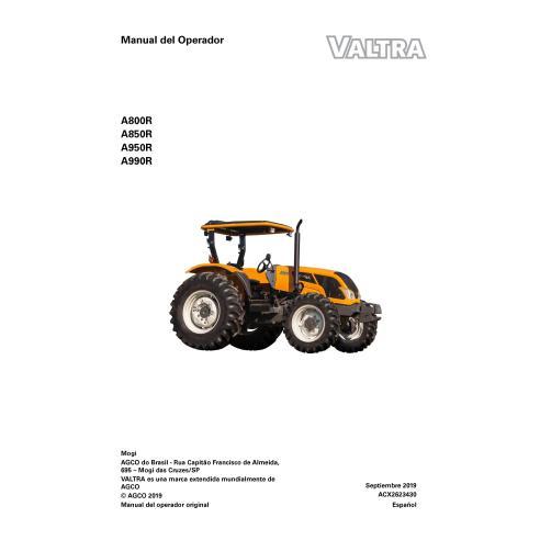 Manuel de l'opérateur PDF du tracteur Valtra A800R, A850R, A950R, A990R ES - Valtra manuels