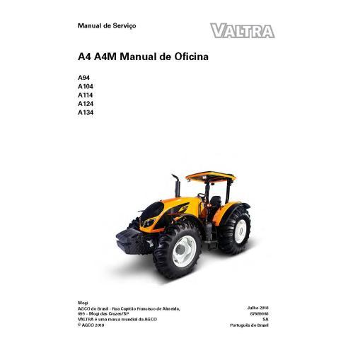 Valtra A94, A104, A114, A124, A134 trator pdf manual de serviço de oficina PT - Valtra manuais