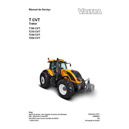 Valtra T195, T210, T230, T250 CVT tractor pdf taller manual de servicio - Valtra manuales